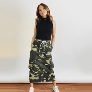 Free People Let Me In Camo Maxi Skirt